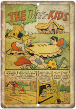 "The Whiz Kids Vintage Comic Strip 10"" x 7"" Reproduction Metal Sign J568"
