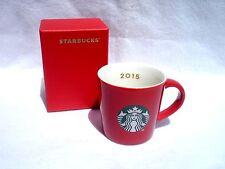 STARBUCKS 3oz Demitasse Cup 2015 Expresso Red White Green Mermaid Logo w/Box NIB