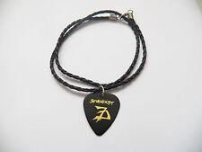 "SEVENDUST guitar pick plectrum braided LEATHER NECKLACE 20"""
