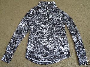 SUPER ExerTek gray,black,white zip-neck ltwt pullover - youth boys girls M 10-12