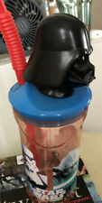 Plastic Star Wars Beaker With Straw And Darth Vader Head, Paperchase