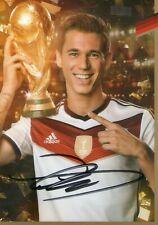 Limitée Edition DFB Carte Autographe! Eric Durm Signé ! Rare! Or Coupe Du Monde