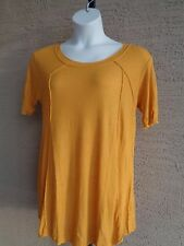 H.I.P. Junior Plus Ribbed Textured Swing Tee Top 3X Gold msrp $44.