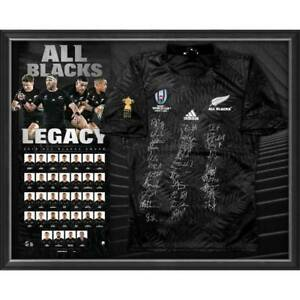 ALL BLACKS 2019 World Cup Squad Signed Jersey Framed World Cup OFFICIAL ON SALE