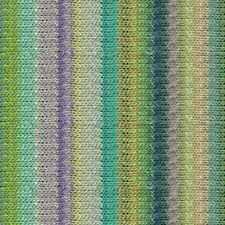 NORO ::Silk Garden #437:: silk mohair wool yarn Lime-Lemon-Violet-Aqua-Teal-Nut