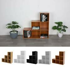 6 Cube Step Storage Bookcase Unit Shelf Home Office Organiser Display Box NEW