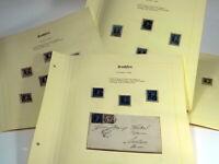 15 Stk BRIEFMARKE NEUGROSCHEN SACHSEN 1851 BfM Freimarken Briefstück NACHLASS