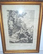 Gravure eau-forte, Pierre AVELINE (1654-1722), L'ouïe