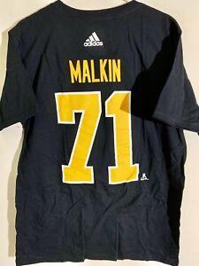 adidas  NHL T-Shirt Pittsburgh Penguins Evgeni Malkin Black sz 2X