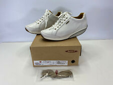 MBT Women's NANE Performance Shoes White Leather Sneakers Size 11-11.5 WIDE NEW
