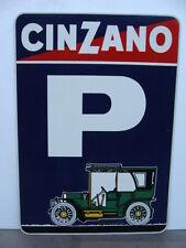 INSEGNA PARCHEGGIO CINZANO ASTI SPUMANTE CARTELLO FIAT PARKING OLD SIGN ITALY