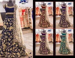 Lehenga Bollywood Indian Party Wear Lengha Choli Pakistani Wedding Bridal MA