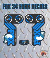 Fox 34 BLU FORK Adesivi Decalcomanie Grafiche mountain bike Down Hill MTB