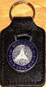 Mercedes Benz Keyring Key Ring badge mounted on a leather fob