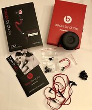 Beats by Dr. Dre Tour In-Ear only Headphones - Black/Red, Great Condition
