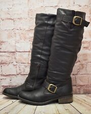 Womens Dolcis Brown Leather Zip Up Low Heel Knee High Boots UK 5 EUR 38