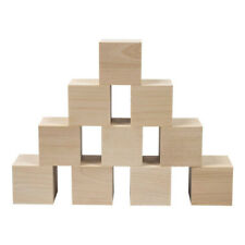 Unfinished Natural Wooden Cubes Solid Natural Wooden Square Blocks for Baby Z