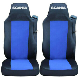 Set of 2 Seat Covers BLUE for SCANIA R P G Series Truck Tailored Lorry HGV