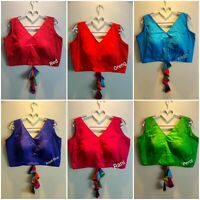 Readymade Stitched Heavy work Designer Blouse Choli Top Saree Belly Dance Sari