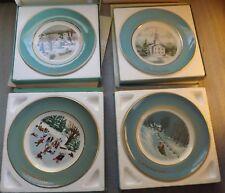 Vintage 1973-1976 Avon Christmas Plates