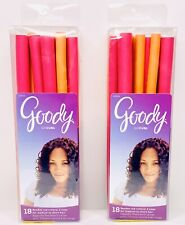 Goody GOCURL FLEXIBLE ROD ROLLERS 2 Sizes For Medium To Short Hair (Lot Of 2)