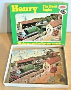 Thomas The Tank Engine 'HENRY' Wooden Jigsaw Puzzle 1984 Michael Stanfield