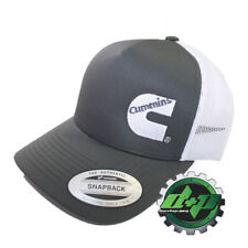 Cummins Camionero Malla Verano Cummings Hat Ball Cap Snap Back Gris Y Blanco