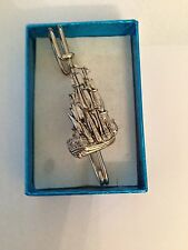 "or Brooch pin pewter emblem 3"" 7.5 cm Old Ship - Endeavour Pp-T14 kilt pin Scarf"
