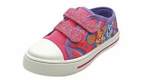 Paw Patrol Girls Skye and Everest Canvas Shoes in Pink
