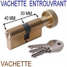 VACHETTE 70 MM,Cylindre Bouton Sécurité,Sureté,30 x 40 mm,Canon,Barillet,Verrou