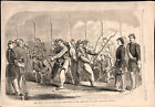 Civil War Zouaves Executing Their Drill in New York 1860 old historical print
