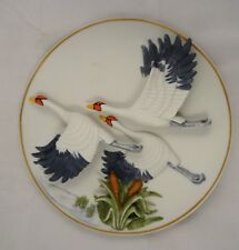 ARDALT Lenville China Bisque FLYING GEESE WALL ART 3-D Plate Japan Hand Painted