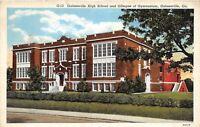 D76/ Gainesville Georgia Ga Postcard 1941 Linen High School Gymnasium