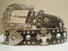 ON SALE! Women's Genuine Leather Nocona Western Brown Bling Belt Size Med