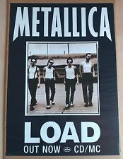 Metallica Load * Out Now Cd/Mc * Mercury - Rare Cd Release Poster - 33x23
