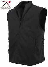 Mens Undercover Tactical Travel Vest - Rothco Black or Khaki 12-Pocket Vests