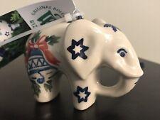 Polish Pottery Elephant Christmas Tree Ornament WIZA Bolestawcu NWT