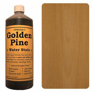 Littlefair's Water Based Environmentally Friendly Wood Stain / Dye - Golden Pine