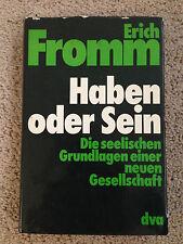 HABEN ODER SEIN by Erich Fromm (1978, Hardcover)  (2921)