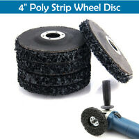 "100mm 4"" Poly Strip Wheel Paint Rust Removal Clean Quality Angle Grinder Disc UK"