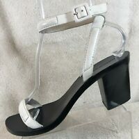Alexander Wang White Leather Ankle Strap Heeled Sandals Women's US 9.5 / EU 40