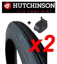 LOT 2 PNEUS 1.75/19 + 2 CHAMBRES A AIR pour cyclomoteur SOLEX 1400 AU 3800 pneu