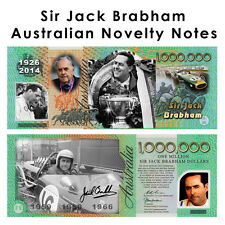 Sir Jack Brabham - Signed One Million Dollar Novelty Money