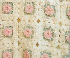 Crochet Pattern Baby Blanket Beautiful Rose