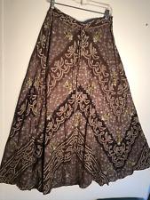 Autograph Floral Vines Embellished Metallic-Gold & Sequins Long Full Skirt M