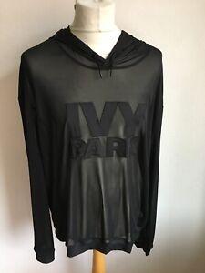 IVY PARK Hoodie transparent Damen Gr. XL schwarz Polyester mit Kapuze