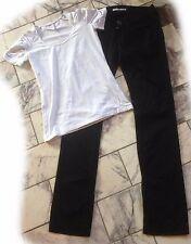 FORNARINA - sehr schöne Stretchhose im Jeansschnitt - schmal - Gr. 26 + t-shirt