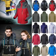 Mens Winter Warm USB Heated Jacket Hooded Padded Thick Ski Hiking Coat Outwear