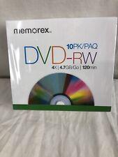 Memorex Dvd-Rw 4.7GB 10 Px Versiegelt