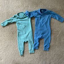 Rags Essentials Infant Rag Romper Size 3-6 Months Green Blue LOT OF 2